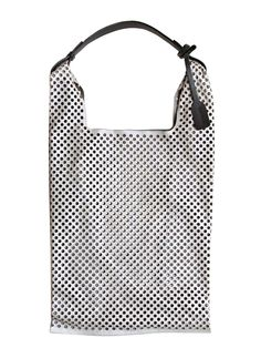 Jil Sander women's Laser Cut Perforated Market Bag from pre- S/S 12 collection in grey available at Ln-cc.com