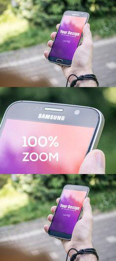 Smartphone PSD Mockup in Man's Hand