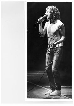 Lou Gramm sings at the Taylor County Coliseum during Foreigner's 1982 show that drew 9,000 fans