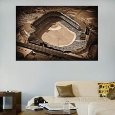 "The original Yankee Stadium that became known as ""The House That Ruth Built"", was home to the New York Yankees from 1923 to 1973 and from 1976 to 2008. During that time, the stadium held over 6,500 Yankees regular season home games. It was closed from 1973 to 1976 for major renovations took place and it reopened on April 15, 1976. It was the the first triple-decked baseball structure and the first to use the label ""stadium"".  http://aplussportsandmore.com/baseball-wall-art.html"