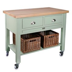 Baydon 2 drawer kitchen trolley from Store | Butcher's Blocks - 10 of the best | PHOTO GALLERY | Country Homes and Interiors | Housetohome.co.uk