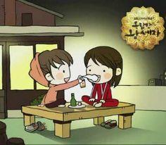 Rooftop Prince - sweet soju scene