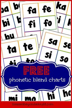 FREE Consonant Blend Charts - good for word work Phonics Reading, Teaching Reading, Fun Learning, Learning Activities, Houston Activities, Learning Tools, Physical Activities, Phonics Blends, Blending Sounds