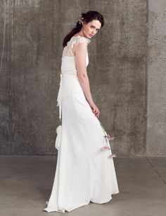Effortlessly Chic Bridal Separates Collection by Sally Lacock Vintage Inspired Wedding Dresses, Wedding Gowns, Bridal Tops, Bridal Skirts, Bridal Separates, Veil, One Shoulder Wedding Dress, Sally, Bride