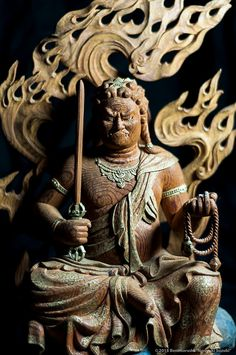 Make Everything Pocket-able Japanese Culture, Japanese Art, Japanese Buddhism, Asian Sculptures, Vajrayana Buddhism, 17th Century Art, Fire Art, China Art, Buddhist Art