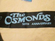 Osmond 50th Anniversary Scarf official silk Donny Osmond Jimmy Marie Jay Merrill Donny Osmond, 50th Anniversary, Jay, Silk, Silk Sarees