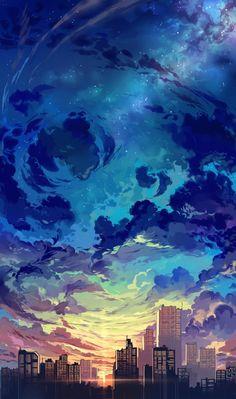 117 best aesthetic anime wallpaper images on anime art Anime Scenery Wallpaper, Landscape Wallpaper, Fantasy Landscape, Sunset Landscape, Landscape Design, City Landscape, Pastel Landscape, Contemporary Landscape, Aesthetic Art