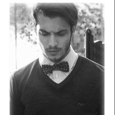 Men's #fashion. Polkadot bow tie.