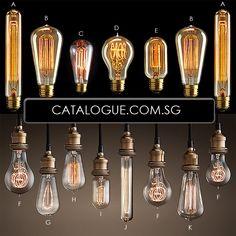 Edison Light Bulbs | Wallpaper, lighting, flooring, renovation deals and discounts in Singapore.