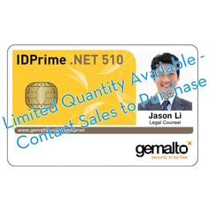 Gemalto IDPrime .NET 510 with OTP - 10 pack
