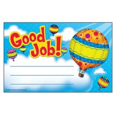 - Hot Air Balloons Good Job Awards, Printed on sturdy, heavy card stock paper, these awards will become keepsakes for the children who receive them. Life Skills Classroom, Classroom Themes, Preschool Classroom, Certificate Of Achievement Template, Award Certificates, Body Parts Preschool, Birthday Charts, Star Students, Reward Stickers