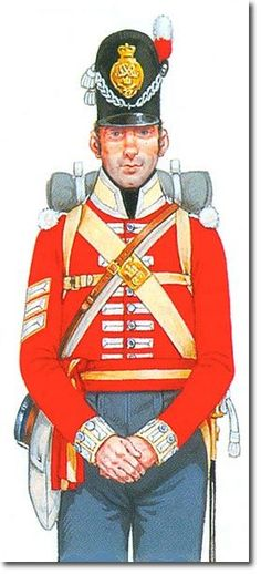 British; 27th (Inniskilling) Regiment of Foot, Line Company, Sergeant, 1815