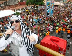 Alceu Valença, figura do carnaval de Olinda.