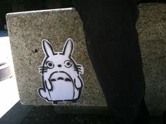 Totoro street art graffiti stencil sticker