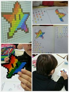 Creative idea for coding<br> Code Art, Teaching Geography, Beading Patterns, Pixel Art, Creative Art, Art For Kids, Preschool, Coding, Activities