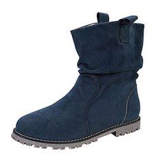 f85a8e4941eb Frestepvie Bottes de Neige Femme Plateforme Simple Moto Suédine Boots  Bottine Courtes Chaussure Classique Ville Automne