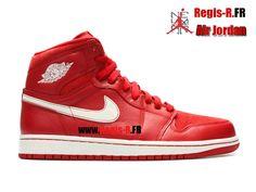 """Air Jordan 1 Retro """"euro gym red"""" - Chaussures Basket Jordan Pas Cher Pour Homme…"""