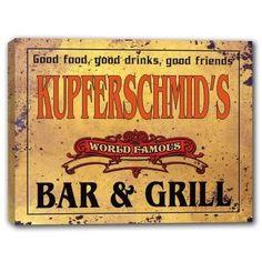 KUPFERSCHMID'S World Famous Bar & Grill Canvas Sign J Edg... https://www.amazon.com/dp/B01K3ROXQ6/ref=cm_sw_r_pi_dp_x_UpUWyb04XGME3