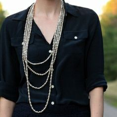An easy and inexpensive method to replicate a designer necklace.