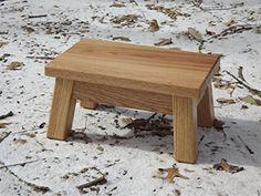 Oak step stool/ farmhouse/ foot stool/ modern/ wood step ...