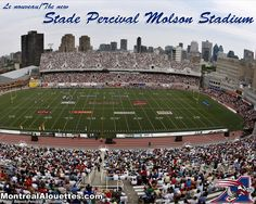 Montréal Alouettes at the Percival Molson Stadium, just steps from downtown