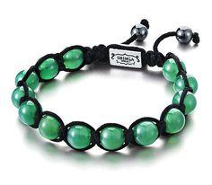 Bracelet Shamballa en perles de jade