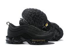 online retailer 20b25 838ef Officiel Nike Air Max 97 Plus TN Classique Coussin Dair Chaussures 2019 Pas  Cher Homme Noir