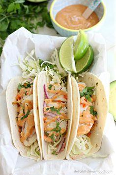 Cod Fish Tacos | Delightful Mom Food #glutenfree #healthytacorecipe