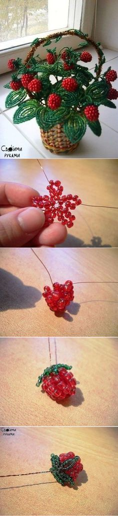 Raspberry from beads