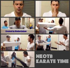 Donnie Wahlberg & Jordan Knight messing around and breaking things
