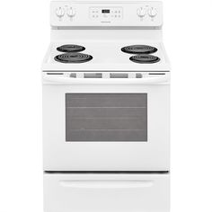 The Frigidaire 30 in. Freestanding Electric Range offers a cu. capacity oven and 4 element electric cooktop featuring two 8 in. coil elements so you can cook more at once. Home Appliances Sale, Kitchen Appliances, Kitchens, Bertazzoni Range, 4 Elements, Kitchen Electronics, Frigidaire, Large Oven, Electric Cooktop