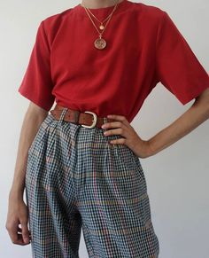 Behind The Scenes By lessisworefemales outfits women Fall Fashion Outfits, Mode Outfits, Retro Outfits, Grunge Outfits, Cute Casual Outfits, 90s Fashion, Vintage Outfits, Casual Attire, Casual Pants
