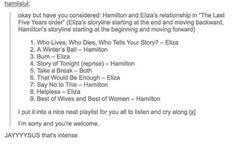 Hamilton & Eliza, The Last Five Years style