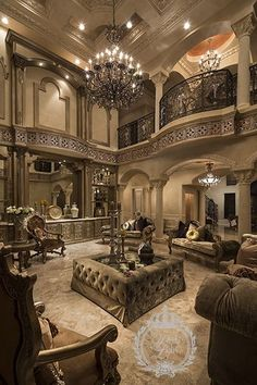 Residential Interior Design - Perla Lichi International Like the architecture but find the room to be a bit dated and anemic looking. Needs an ejection of some color (even soft). Contrast is missing. Residential Interior Design, Luxury Interior, Home Interior Design, Interior Architecture, Luxury Furniture, Interior Decorating, Decorating Tips, Tuscan Home Decorating, Furniture Design