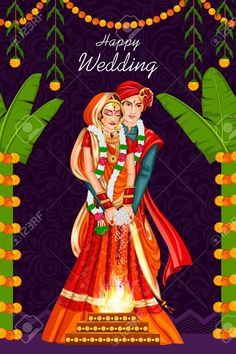 347 Indian Wedding Couple Cliparts, Stock Vector And Royalty Free Wedding Card Design Indian, Indian Wedding Couple, Indian Wedding Cards, Wedding Couples, Wedding Designs, Wedding Couple Cartoon, Wedding Styles, Indian Wedding Invitation Cards, Photo Wedding Invitations