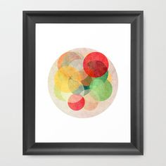 The Round Ones Framed Art Print by Anai Greog - $33.00