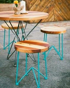 Colorful Industrial Cafe Table and Stool #industrial #furniture #industrialfurniture #industrialstool #industrialtable #cafefurniture #cafeinterior #cafedecor #restaurantfurniture #restaurantdecor #cafestooland table #cafeseating #bestofexports #interiordesigner #interior #Interior_Design #interiorarchitecture #architect #outdoorfurniture