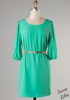 Classy & Simple Dress -- Mint #sassyriley #shopping #fashion