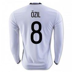 Tyskland 2016 Ozil 8 Hjemmedrakt Langermet.  http://www.fotballteam.com/tyskland-2016-ozil-8-hjemmedrakt-langermet.  #fotballdrakter