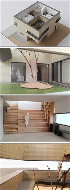 식구들이 각자 방에 흩어져 있거나 거실에서 TV만 보는 아파트 생활을 두고 '함께 산다'고 말할 수 있을까. 운중동 'ㅁㄱ주택'에는 계단 가족실을 만들었다.