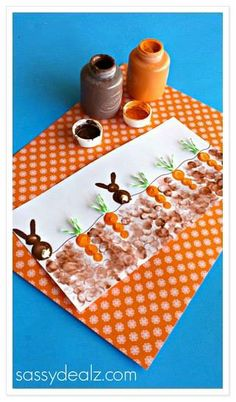 Easy & Fun Easter Crafts For Kids - Crafty Morning Spring Crafts, Holiday Crafts, Holiday Fun, Spring Art, Easter Art, Hoppy Easter, Bunny Crafts, Easter Crafts For Kids, Fingerprint Crafts