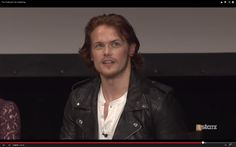 Sam Heughan. I think he'll do just fine as Jamie Fraser...