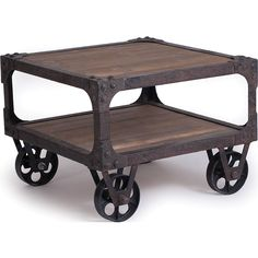 Rustic End Tables | Rustic Industrial End Table - NC Rustic