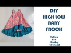 kids summer frock for baby girl cutting and stitching best frock design for little baby girl 2018 - YouTube