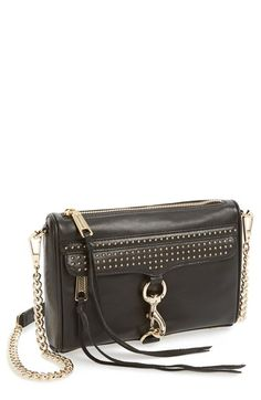 Rebecca Minkoff 'Mini M.A.C.' Studded Leather Crossbody Bag available at #Nordstrom