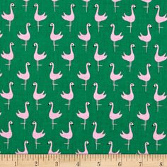Dear Stella Bay Breeze Flamingoes Lime from @fabricdotcom  Designed by Jack and Lulu for Dear Stella Designs, this cotton print fabric is perfect for quilting, apparel and home decor accents. Colors include black, pink, and shades of green.