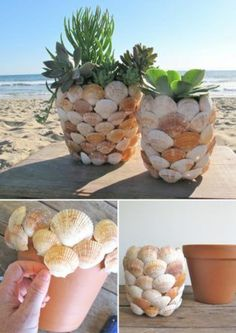 20 Unique Decor Ideas- Make Difference Using Diy Seashells - Top . 20 Unique Decor Ideas- Make Difference Using Diy Seashells - Top diy seashell crafts - # Seashell Art, Seashell Crafts, Beach Crafts, Diy Home Crafts, Garden Crafts, Diy Home Decor, Seashell Decorations, Diy Para A Casa, Seashell Projects