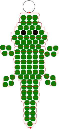 Crocodile pony beads pattern