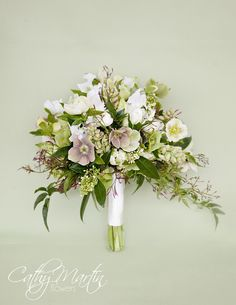 Not only beautiful, but must smell wonderful: hellebores, skimmia, tulips, sweetpea and jasmine