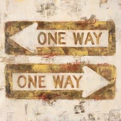 One Way by Michael Longo Painting Print on Wrapped Canvas